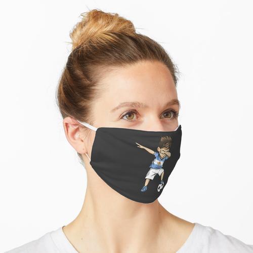 Tupfen Fußball Argentinien Trikot - Argentinischer Fußball Maske