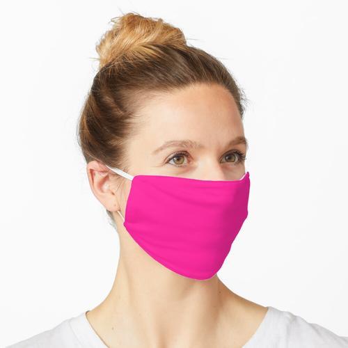 Fluoreszierende rosa Farbe Maske