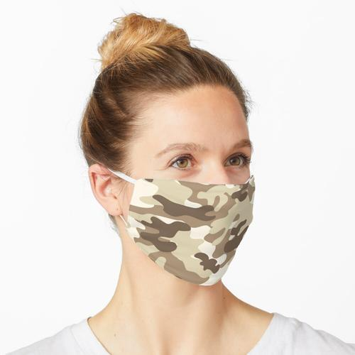 Hellbraune Tarnfarbe Maske