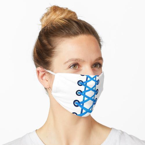 Blaue Stoffschnürsenkel Maske