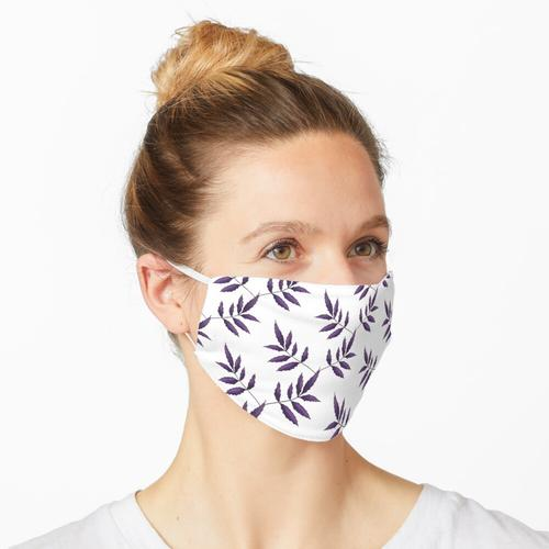 Kletterpflanze. Violett Maske