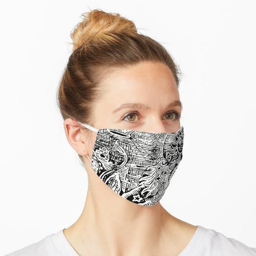 Holzblock Maske