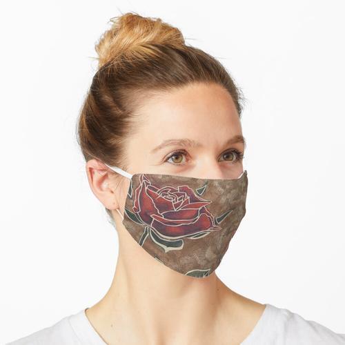 Papier und Pastell schneiden. Maske