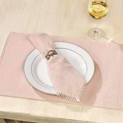 French Perle Solid Color Placemats Set of Four, Set of Four, Pale Green