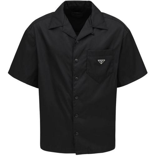 Prada Bowlinghemd Aus Nylongabardine
