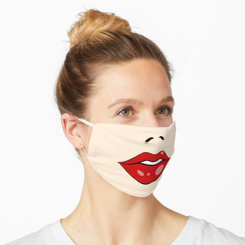 Roter Lippenlippenstift Maske