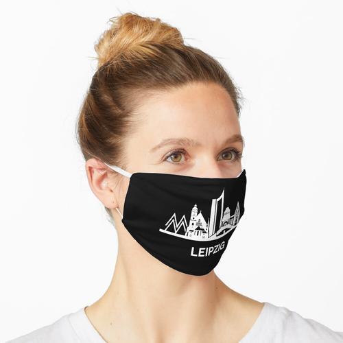 Leipziger Skyline, weiß Maske