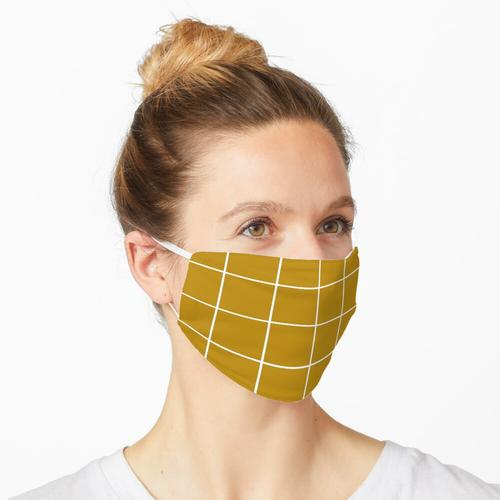 MUSTARD GELBES GITTER Maske