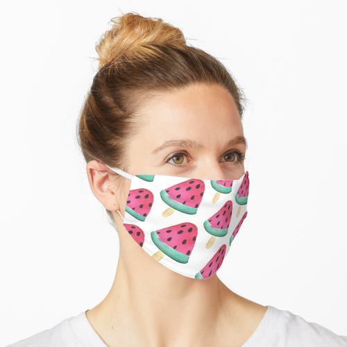 Meloneneis - Melone - Eis Aquarell Maske