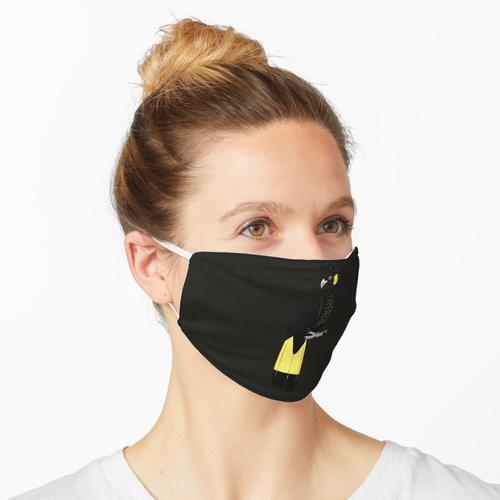 Gelbschwanz-Schwarzkakadu Maske