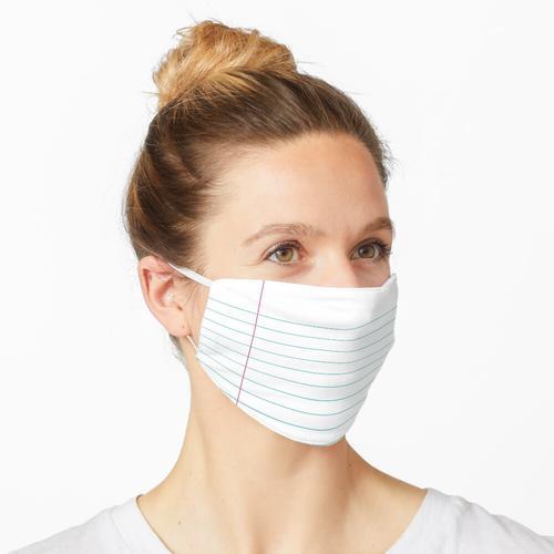 Liniertes Papier Maske