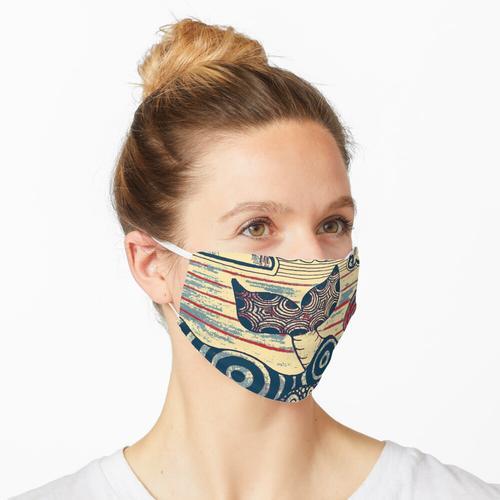 Antiker Wal Maske