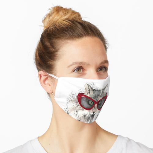 Katzenaugen in Katzenaugen Maske