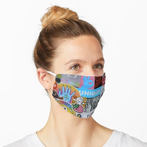 Aufkleber-Collage Nr. Acht Maske