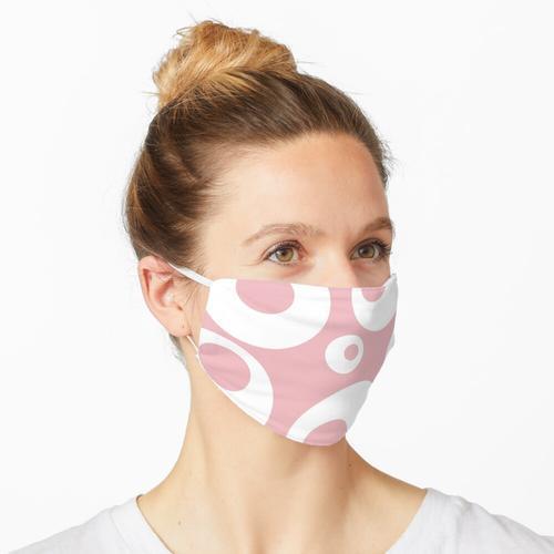 Rosa und weiße runde Kreise Maske
