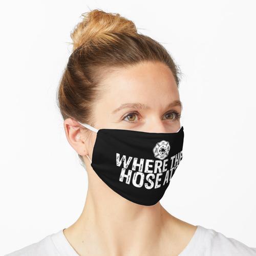 Wo der Schlauch an Maske