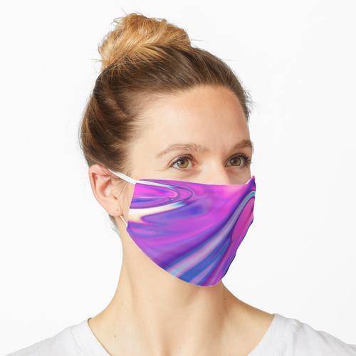 Lila schillernde Folie Maske