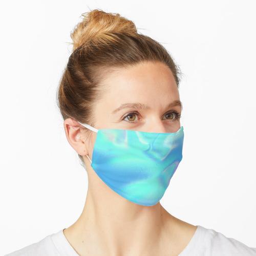 Blaue holographische Folie Maske