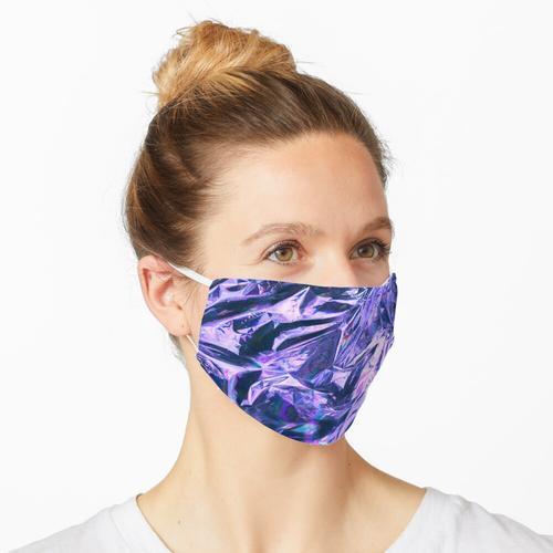 Lila holografische Folie Maske