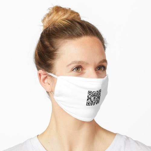 Rick Roll QR Code Klein Maske