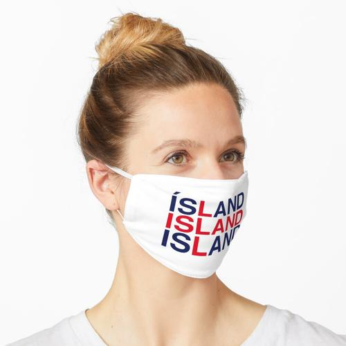 ISLAND Icelandic Flag Maske