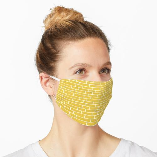 Backsteinstraße - Gelb und Weiß Maske