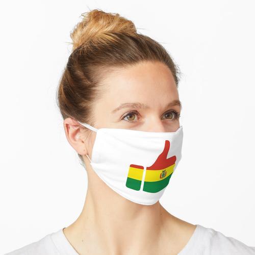 Daumen der Fahne Boliviens Maske