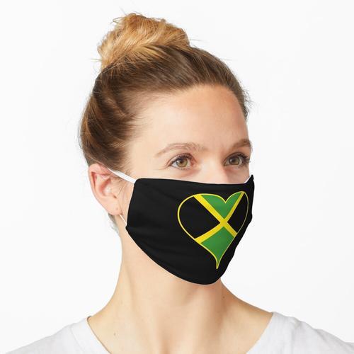 Jamaika Flagge / Jamaikanisches Herz Maske