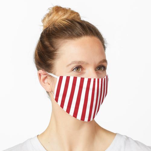 Rote und weiße Streifen   Streifenmuster   Streifenmuster   Maske