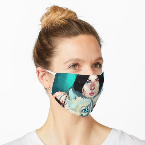 Wölfin Maske