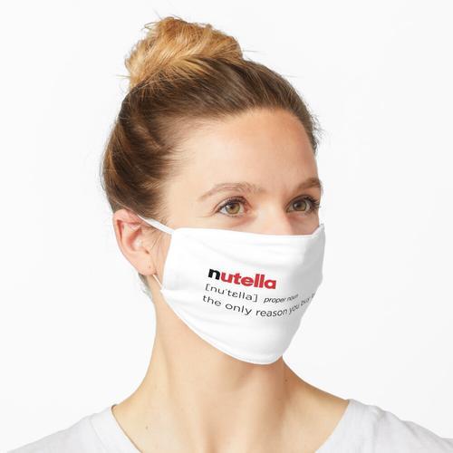 Nutella-Definition, Nutella-Sucht, Nutella-Liebhaber Maske