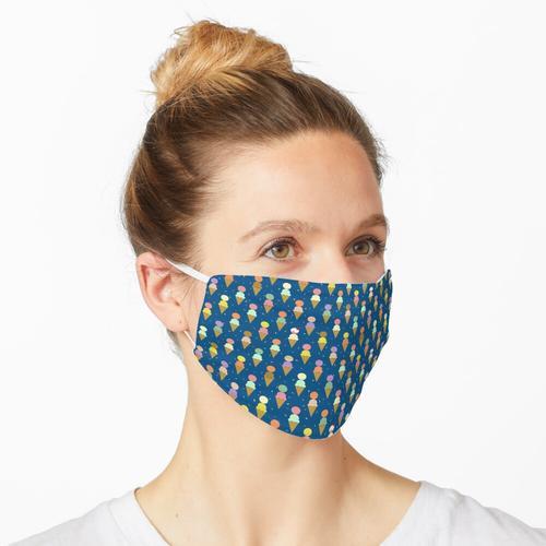 Blauer Eiscreme-Kegel 2 Schaufeln Robayre Maske