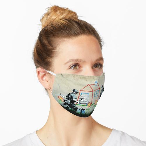 Bansky Crayon Abschottung Maske