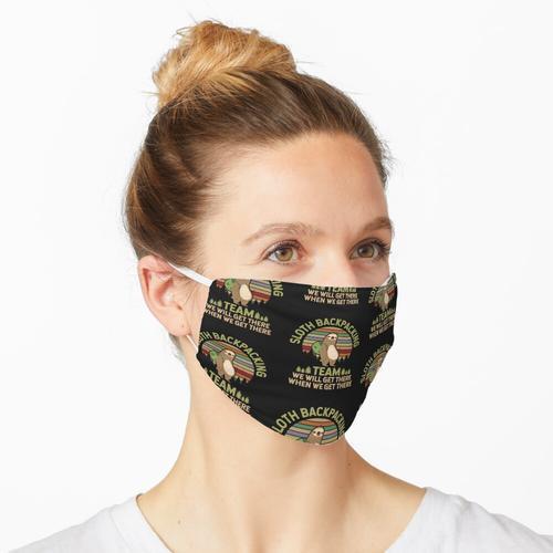 Retro Faultier Backpacking Team Maske