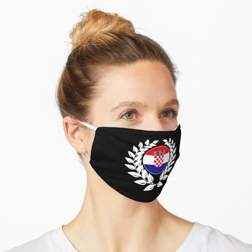Kroatien kroatisch Flagge Fahne Maske