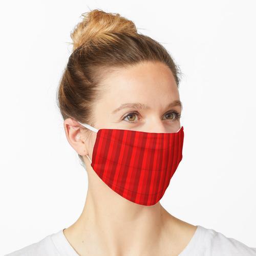 Rote Streifen Maske