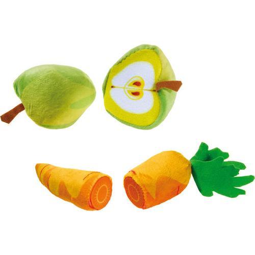 Apfel-/Möhre-Set mit Magnet, bunt