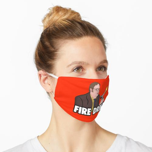 Die Office-Meme: Dwight Fire Drill Maske