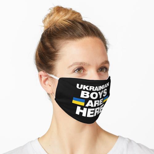 Ukrainische Jungs sind hier Ukraine Team Maske