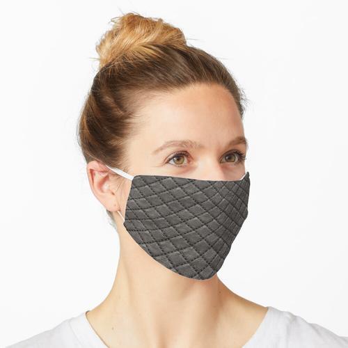 Gestepptes Leder - Schwarz Maske