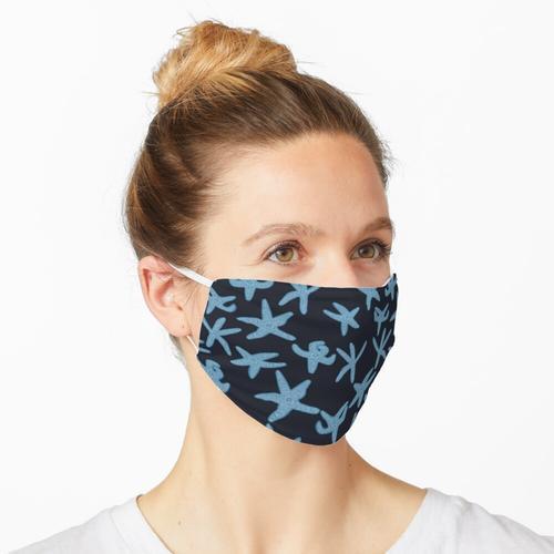 Blaue ockerfarbene Seesterne Maske