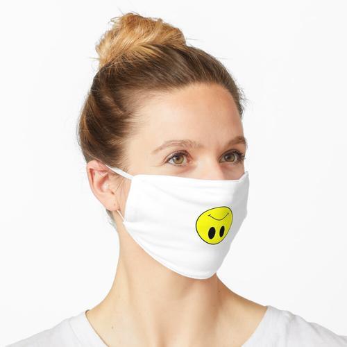 Umgedrehter Smiley - Gelb Maske
