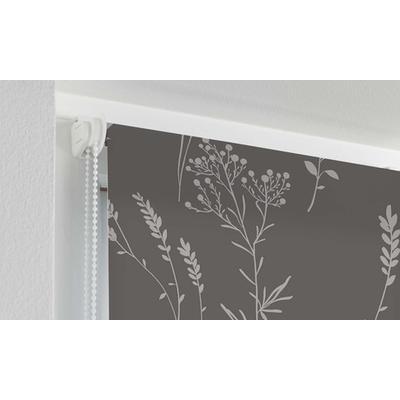 Store tamisant impression métallique en polyester : anthracite / Verdura - 90 * 180 cm 1