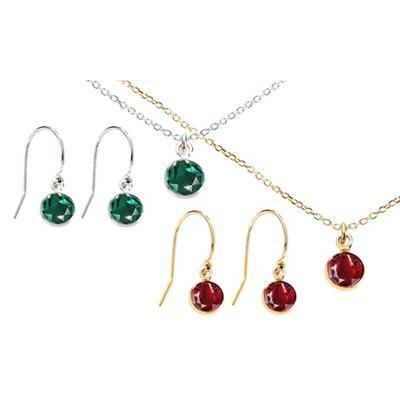 Parures en argent cristaux Swarovski® : Collier / Siam / Argent
