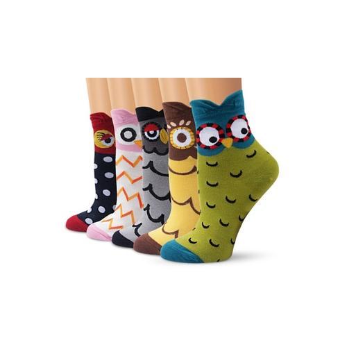5er-Pack Socken mit Eulen-Motiv