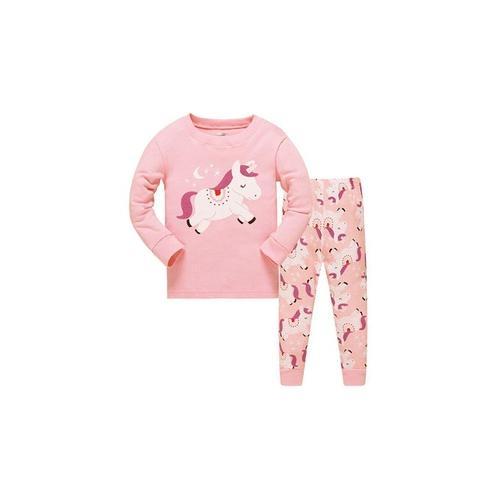 Mädchen-Pyjama mit Einhorn-Muster: 3-4