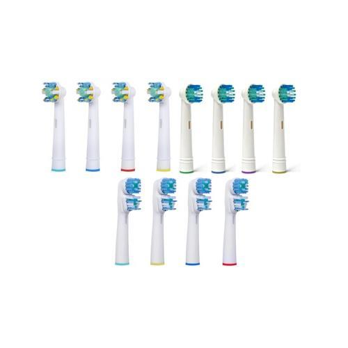 Ersatz-Zahnbürstenköpfe: Floss / 12er-Pack