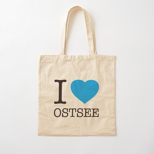 I LOVE OSTSEE Baumwolltasche