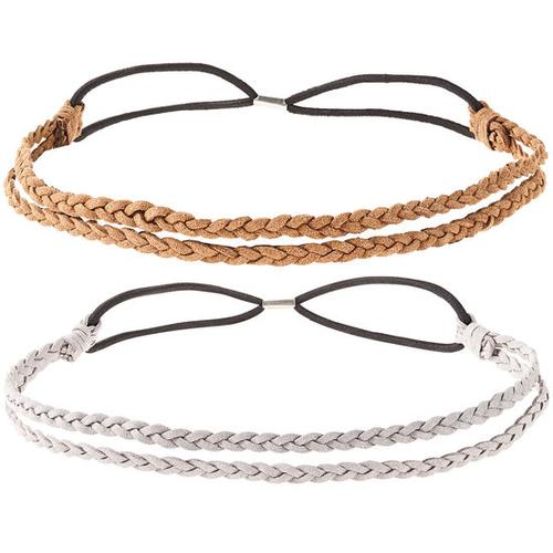 Haarband-2-er-Set, silber