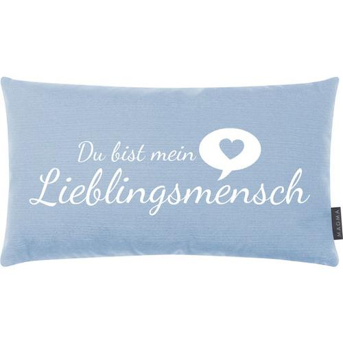 JAKO-O Kissen Lieblingsmensch, blau